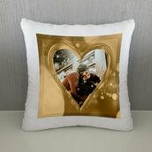 Cuscino Cuore Oro personalizzato