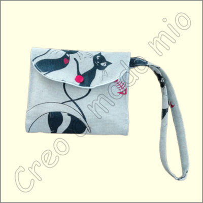 Pochette intima da borsa : gatto nero 2