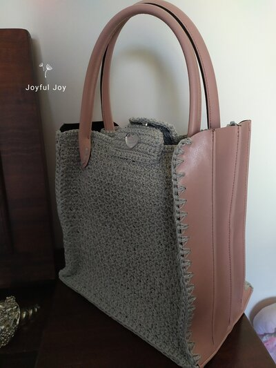Shopper bag colore cipria
