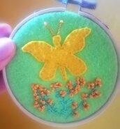 Quadretto farfalla primaverile
