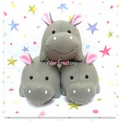 Pupazzo Ippopotamo HAPPY - Fanta Pets by Nixie Creations
