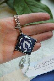 collana Azulejo modello pendente a rombo