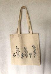 Shopper 100% cotone fiori