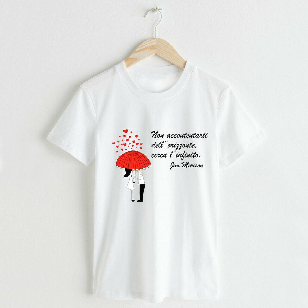 T-shirt Uomo, Donna Pioggia di cuori personalizzato