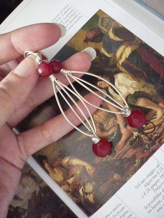 !!!SCONTATI DA 15 A 10 !!!!East Red Ruby Earrings FS/Spedizioni Gratuite
