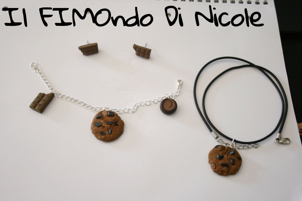 Parure al cioccolato - Chocolate set - Fimo