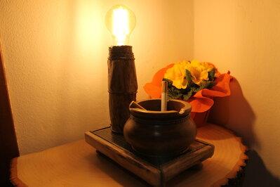 Taedium Vitae - lampada in legno, lampada di design, lampada fatta a mano