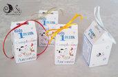 Bomboniere Fattoria Portaconfetti Milk box Le kids Milk multicolor bimbo primo compleanno