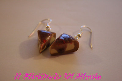 Orecchini Cheese cake ai frutti di bosco - Mixedberries cheesecake earrings - Fimo