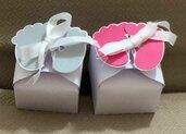 Bomboniera scatolina piedini - Battesimo, nascita o primo compleanno