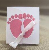 Invito piedini - Battesimo, nascita, primo compleanno