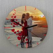 Orologio  Cuori sparsi da parete personalizzato