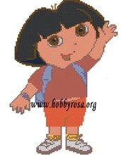 Schema punto croce Dora