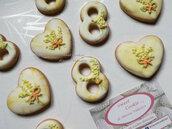 Biscotti donna festa personalizza compleanno data  sweet table segnaposto