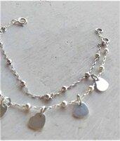 Braccialetto argento 925 con charms cuori