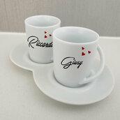 Set 2 tazzine da caffe Nomi personalizzata