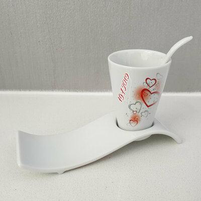 Tazza da caffe Cuori personalizzata