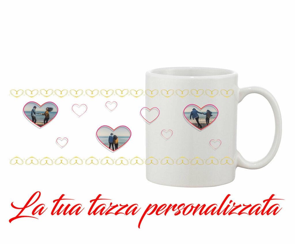 Tazza Mug Cuori Oro personalizzata