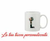 Tazza Mug Iniziale Fiori personalizzata