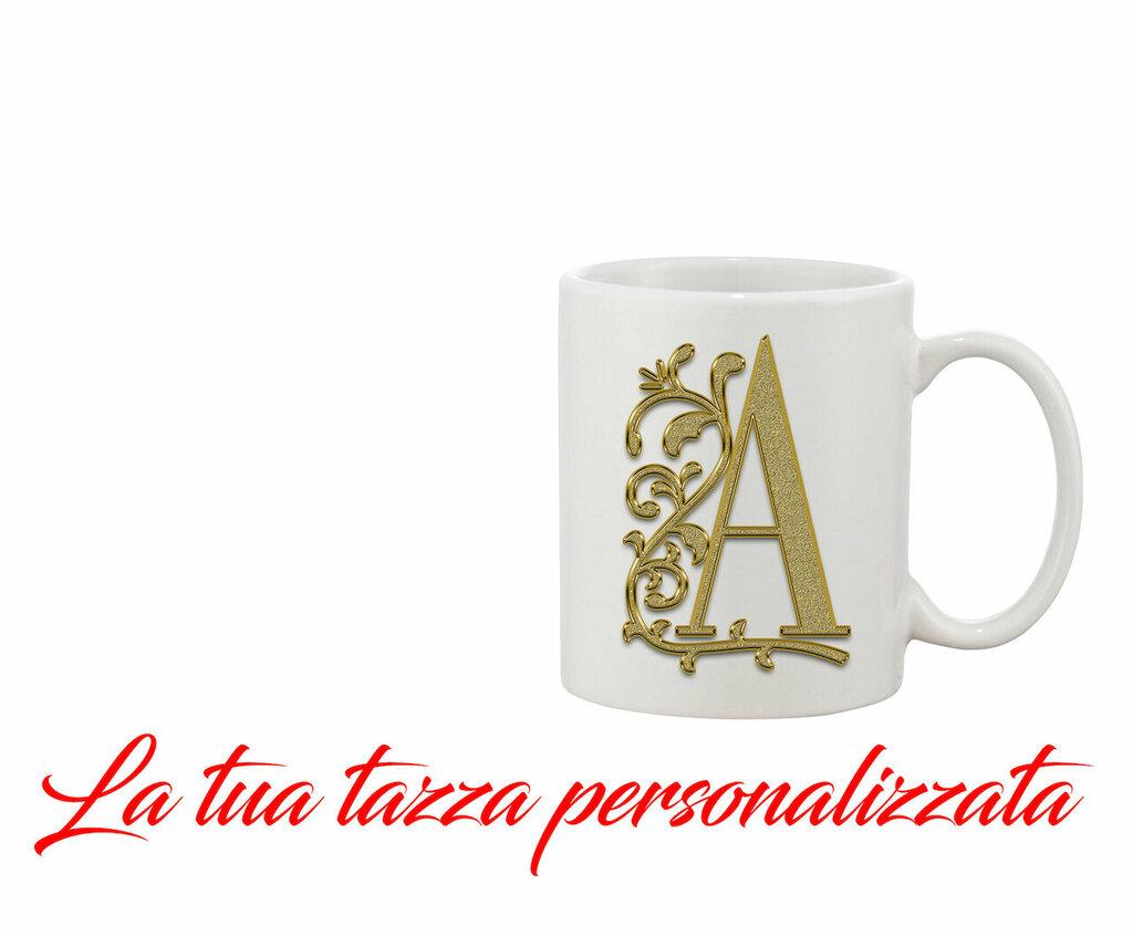 Tazza Mug Iniziale Oro personalizzata