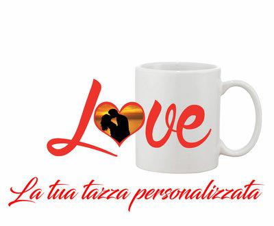 Tazza Mug Love Heart personalizzata