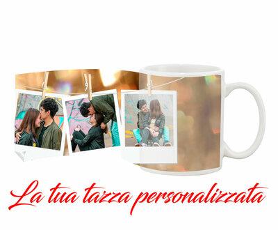 Tazza Mug Trio Polaroid personalizzata