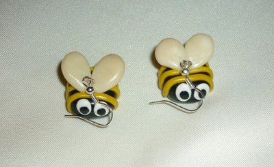 Orecchini api in fimo