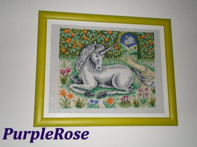 Quadro punto croce Unicorno