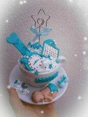 Tazza fimo portafoto bomboniera nascita battesimo fatto a mano