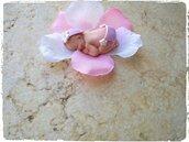 Bimba in fimo bomboniera segnaposto nascita battesimo fatto a mano