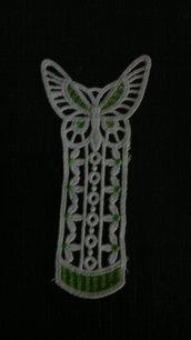 segnalibro farfalla verde