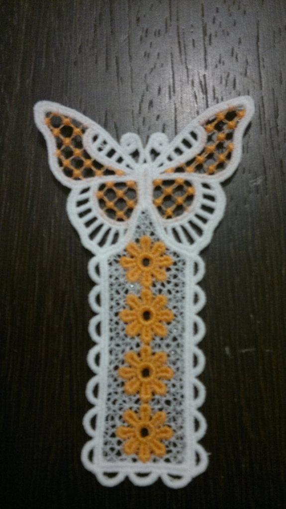 segnalibro farfalla arancio