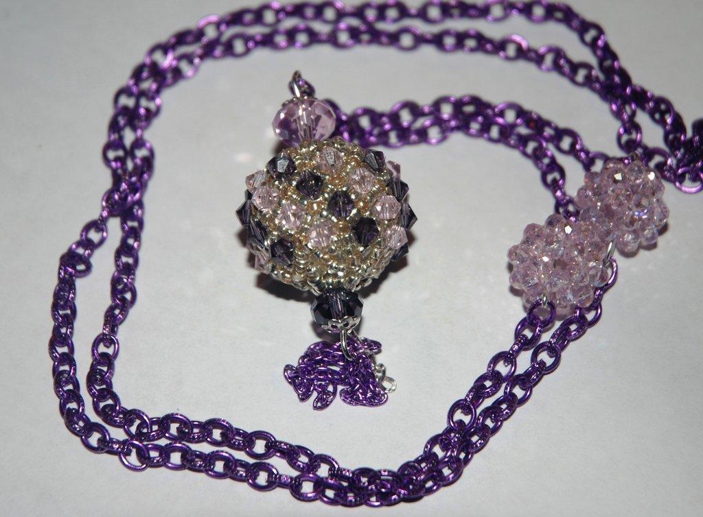 Sfera capriccio viola e rosa