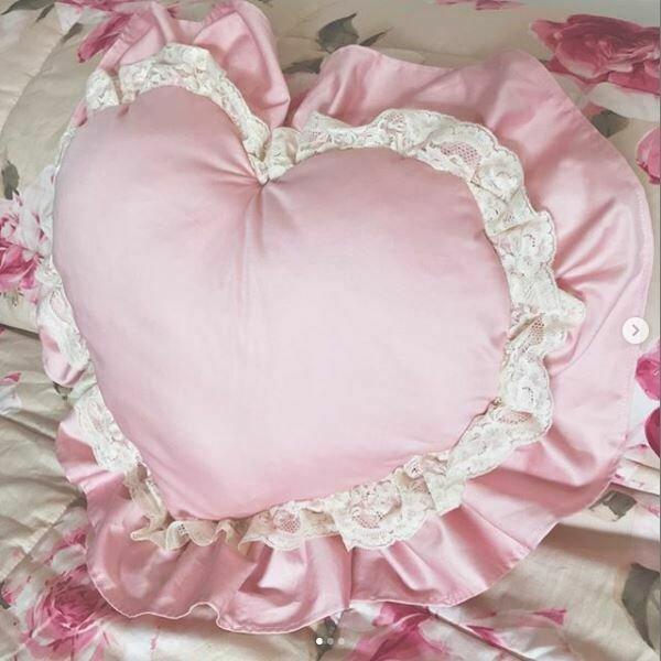 cuscino cuore shabby