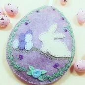 Uovo pasquale dolce coniglietto