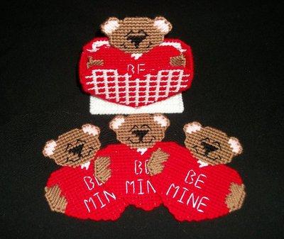 Handmade Valentine Bear Coasters