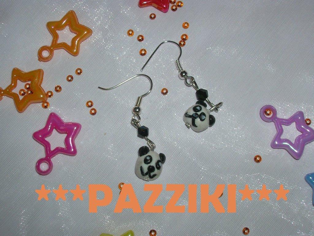 orecchini panda