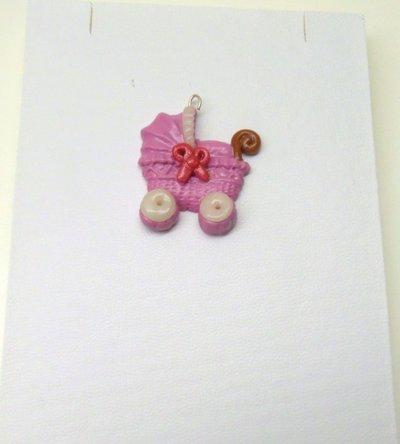 "CHARMS IN FIMO PER BOMBONIERE ""STROLLER"""