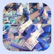 Bomboniera battesimo - bomboniera nascita - mollettine decorate - confetti decorati