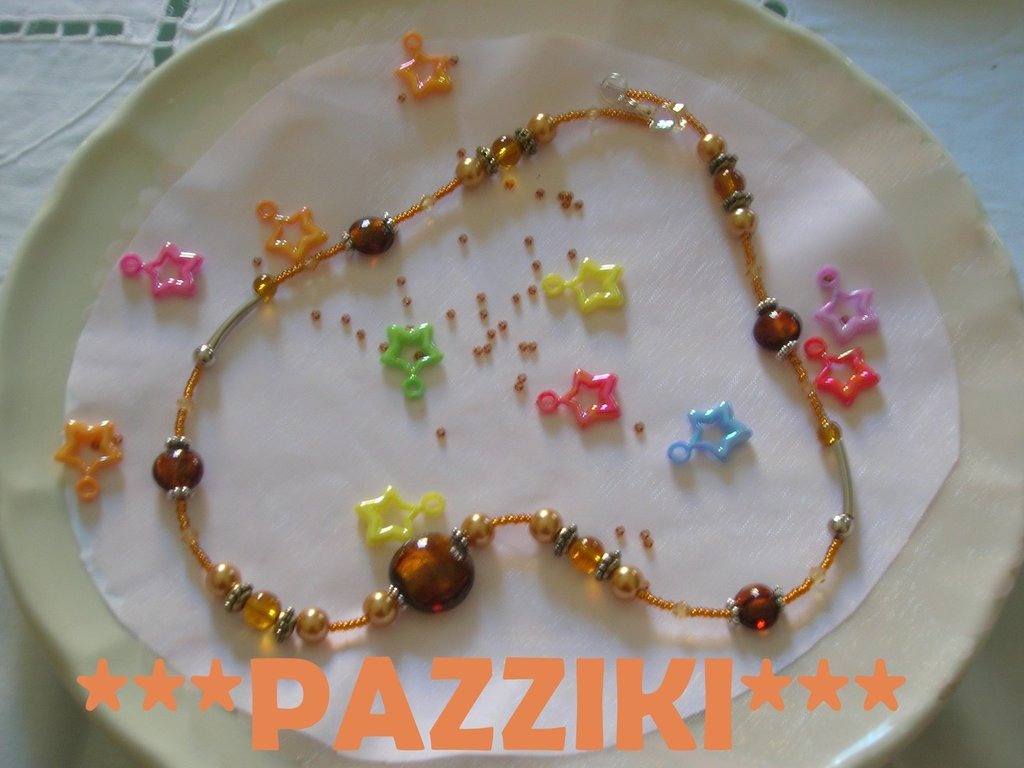 collana perle topazio