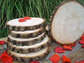 Disco di legno naturale  adatto come sottopiatto o svariati usi diametro trenta centimetri