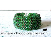 Bracciale capricho con cristalli verdi