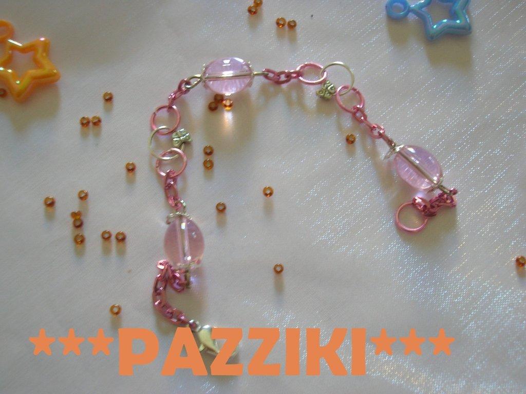 bracciale perle rosa