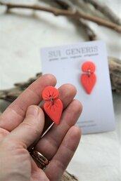 """_coral dream_ orecchini pendenti piccoli color fenicottero motivo """"a fiocco"""""""