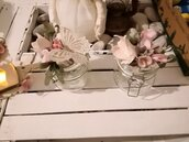vasetti grandi e piccoli decorati a mano