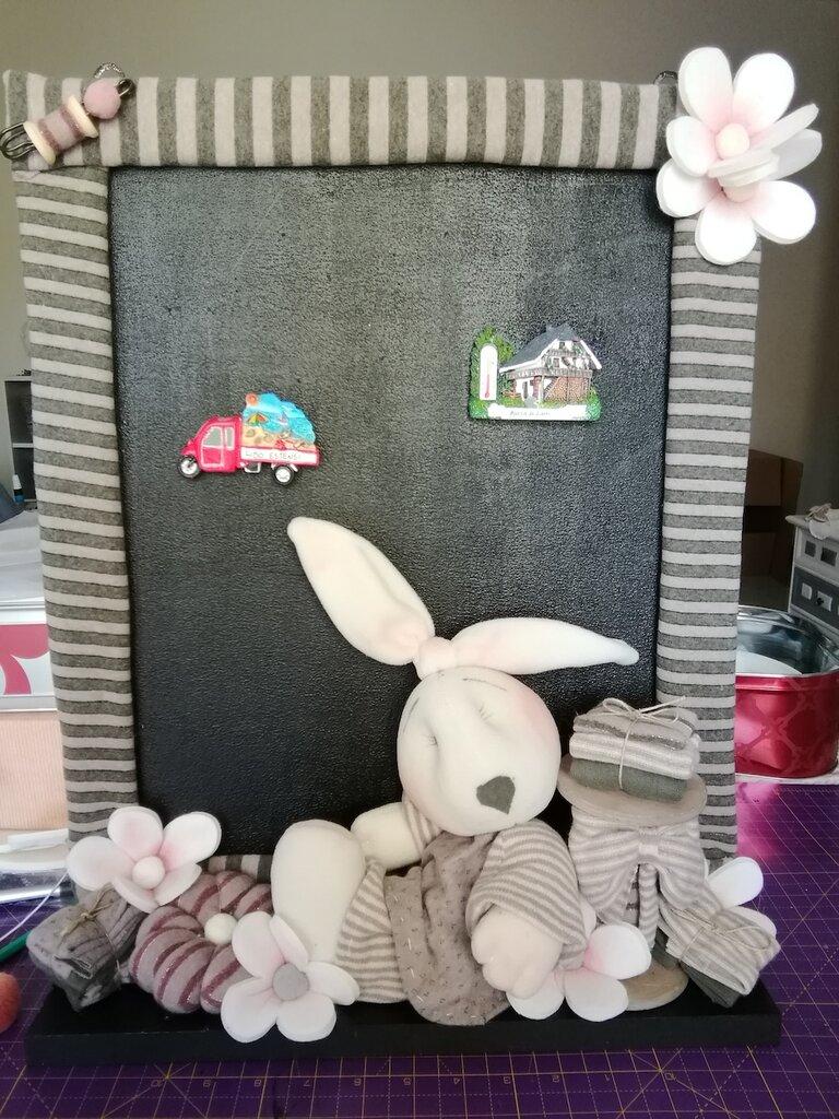 lavagna coniglio realizzata interamente a mano
