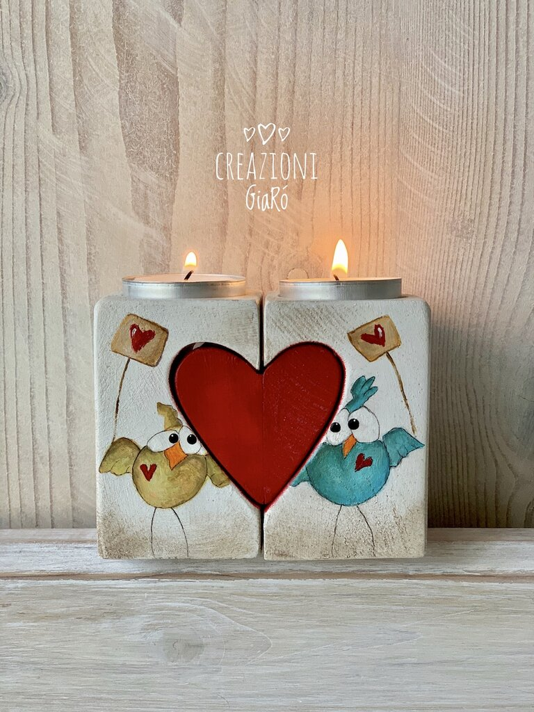 Porta candeline decorato