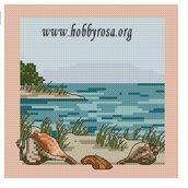 Schema punto croce Spiaggia e Conchiglie