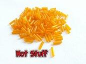 (6g) Tubetti Bugle in Vetro - Arancione (6x2mm)