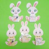 Coniglietti cioccolatino segnaposto di Pasqua